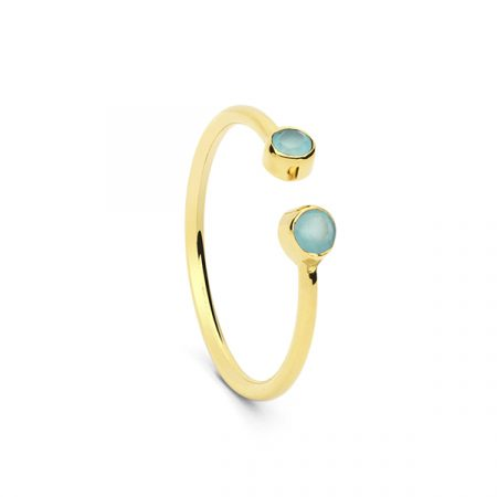 2 Stone Ring Blue by Maria Pascual