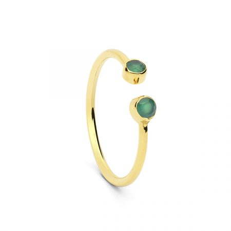 2 Stone Ring Green by Maria Pascual