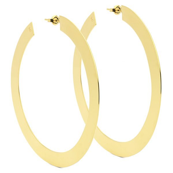 Flat Hoop Earrings by Maria Pascual