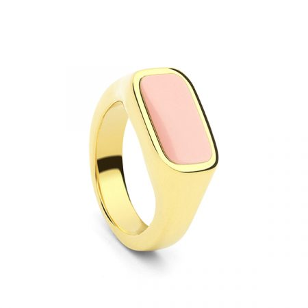 Seal Ring Rose Quartz by Collage Vintage & Maria Pascual