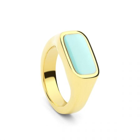 Seal Ring Turquoise by Collage Vintage & Maria Pascual