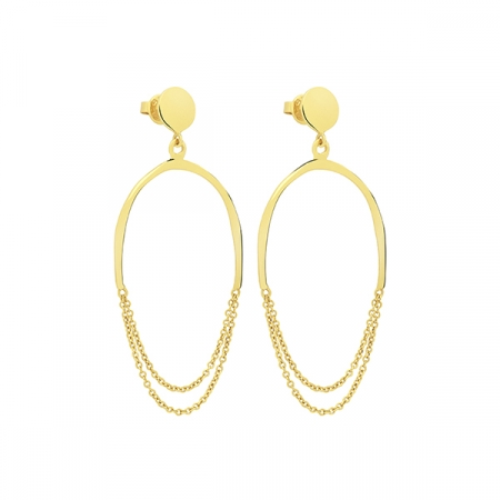 Oval Earrings by Maria Pascual