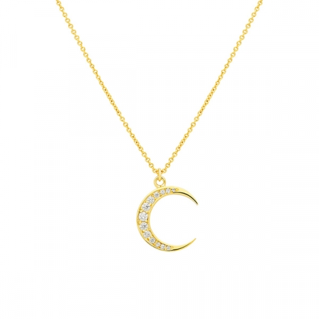 Shiny Moon Necklace Maria Pascual by Dulceida