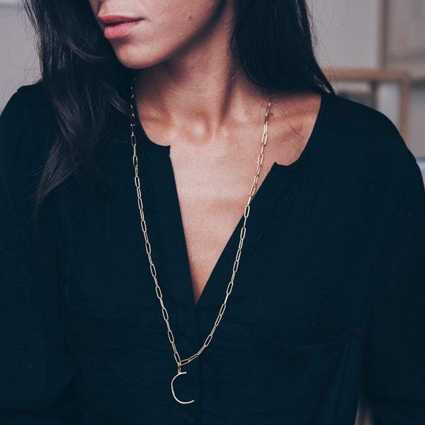 C Necklace by Maria Pascual