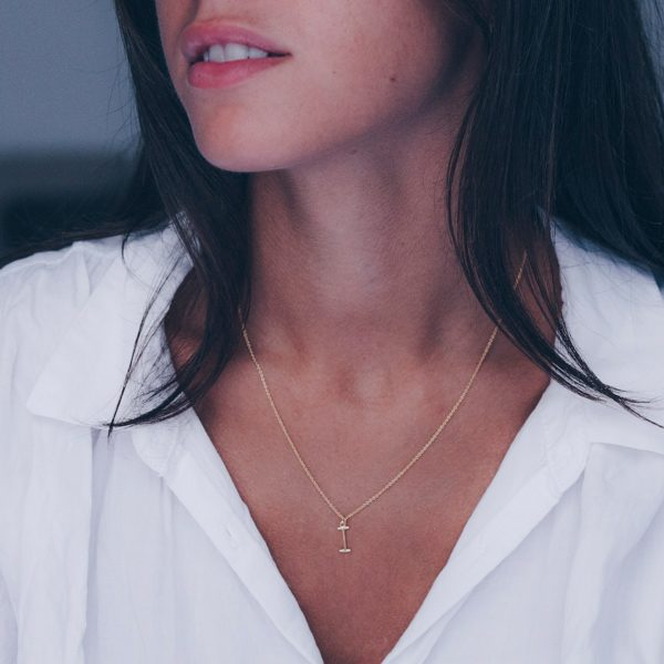 I Necklace Small by Maria Pascual