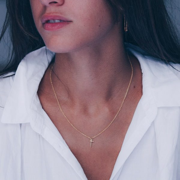 T Necklace Small by Maria Pascual