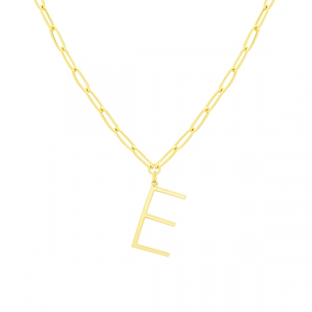 E Necklace by Maria Pascual