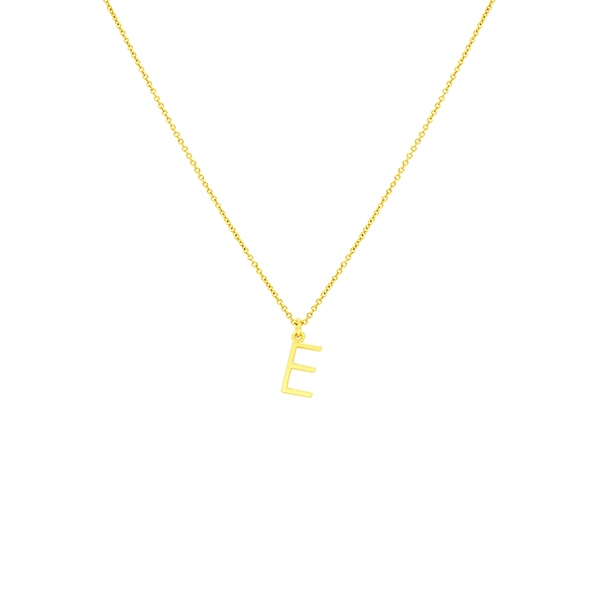 E Necklace Small by Maria Pascual
