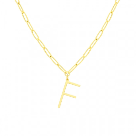 F Necklace by Maria Pascual
