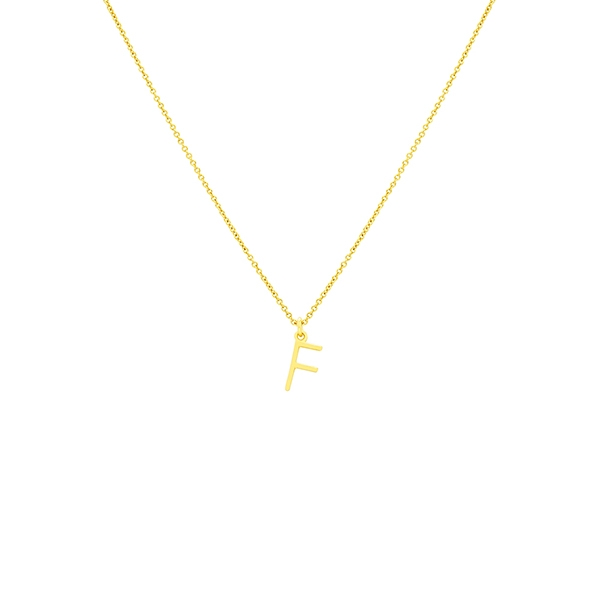 F Necklace Small by Maria Pascual