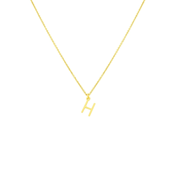 H Necklace Small by Maria Pascual