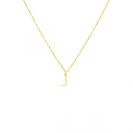 J Necklace Small by Maria Pascual