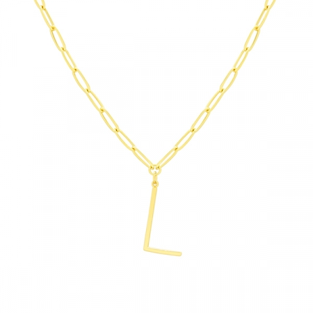L Necklace by Maria Pascual