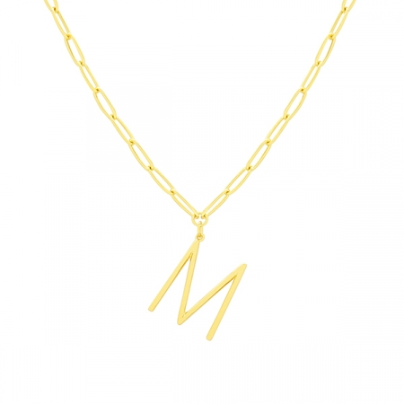 M Necklace by Maria Pascual
