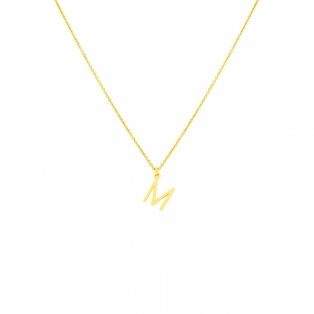 M Necklace Small by Maria Pascual