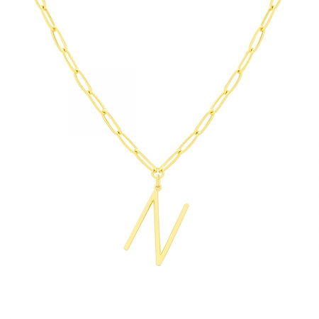 N Necklace by Maria Pascual