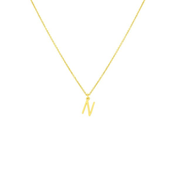 N Necklace Small by Maria Pascual