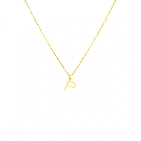 P Necklace Small by Maria Pascual
