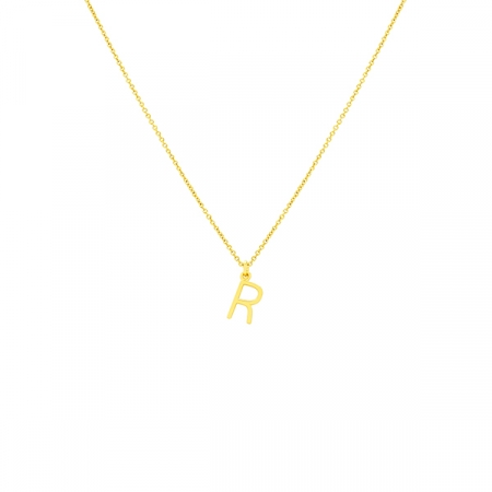 R Necklace Small by Maria Pascual