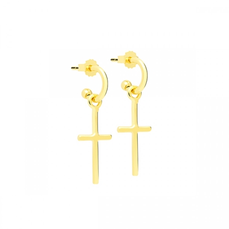 Small Cross Earrings by Maria Pascual