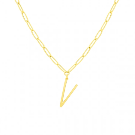 V Necklace by Maria Pascual