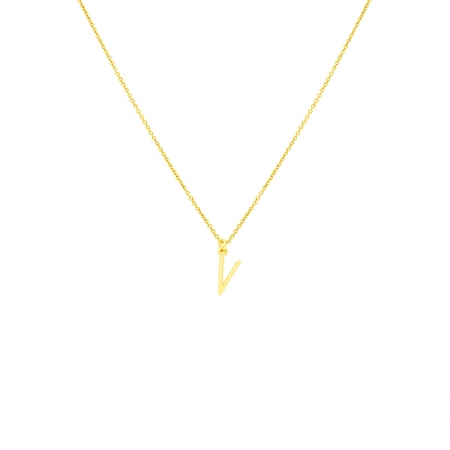 V Necklace Small by Maria Pascual