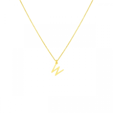 W Necklace Small by Maria Pascual