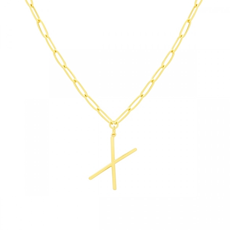 X Necklace by Maria Pascual