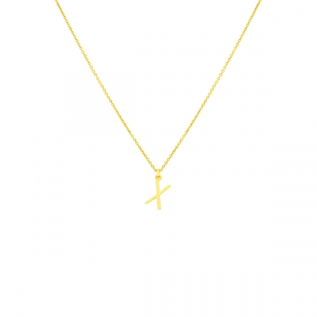 X Necklace Small by Maria Pascual