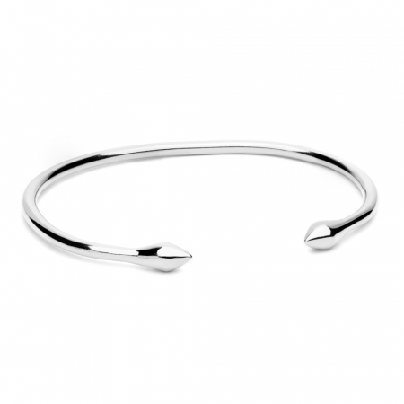 Arrow Bangle Silver by Maria Pascual