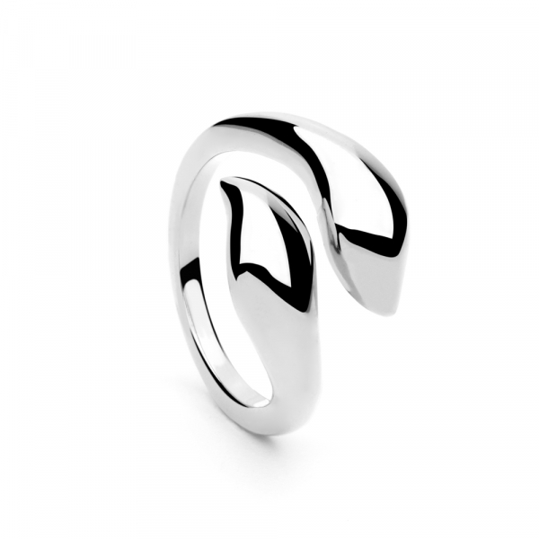 Leaf Ring Silver by Maria Pascual