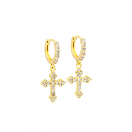 Shiny Cross Earrings by Maria Pascual