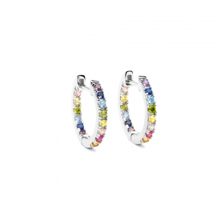 Rainbow Earrings Small Silver by Maria Pascual