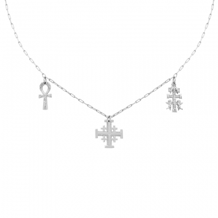 Sacred Necklace Silver by Maria Pascual