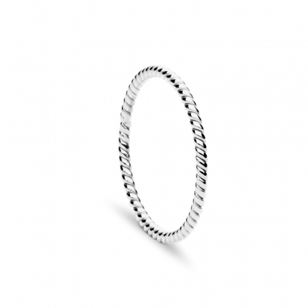 Twist Ring Silver by Maria Pascual