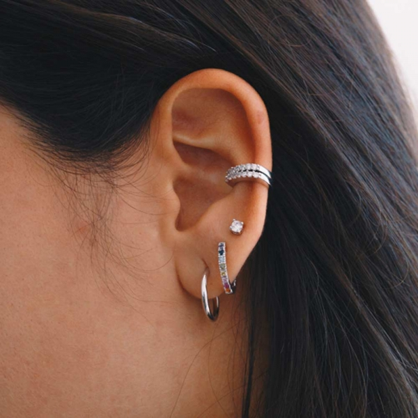 Earcuff Earring Silver by Maria Pascual
