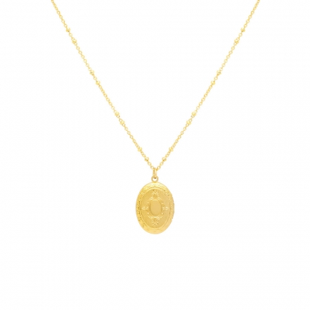 Locket Pendant Necklace by Maria Pascual