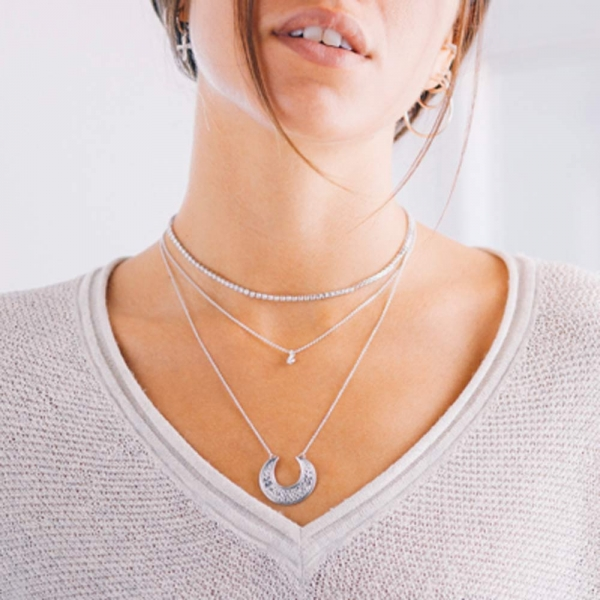Moon Necklace Silver by Maria Pascual