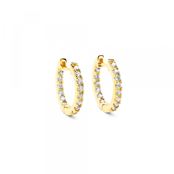 White Stone Earrings by Maria Pascual